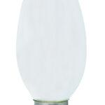 """Ampoule LED Fil. Flamme lisse """"milky"""" 4000K 1W 100L E14"""