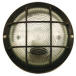 Hublot rond en verre et plastique 211E27 max 60W -Noir -BUBBLE