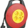 FIN JUILLET – Enrouleur domestique 10m H05VV-F3G1.0MM2, 4 prises 2P+T 16A -DOMREEL