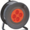 Enrouleur bricolage, 4 prises, H05VV-F3G1.5MM2, 25M , NF,CE