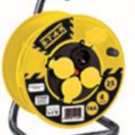 FIN JUIN – Enrouleur professionel,  4 prises, H07RN-F3G2.5MM2, 25M , NF,CE – IP44. Tambour fixe