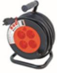 Enrouleur bricolage, 4 prises, H05VV-F3G1.5MM2, 15M , NF,CE