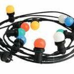 Guirlande 6 m 10 ampoules mult4icolores IP44 -COLOR PARTY LIGHT