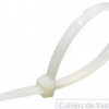 Colliers de fixation en nylon blanc 2,5×200 – x100u -MG103