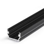 Profilé LED UNI12 /1m alu anodisé noir (BCD / U)