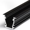 Profilé LED DEEP10 /1m alu anodisé noir (BC/UX)