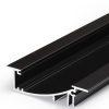 Profilé LED FLAT8 /2m alu anodisé noir (H/UX)