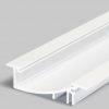 Profilé LED FLAT8 /1m alu laqué blanc (H/UX)