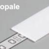 Diffuseur plat E /1mx19,2mm opale