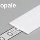 Diffuseur plat E /2mx19,2mm opale
