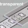 Diffuseur plat E /1mx19,2mm transparent