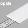 Diffuseur plat G /2mx29,5mm opale