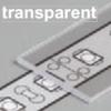 Diffuseur plat G /1mx29,5mm transparent