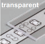 Diffuseur plat G /2mx29,5mm transparent