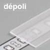 Diffuseur plat H /1mx15,4mm depoli