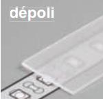 Diffuseur plat H /2mx15,4mm depoli