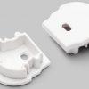 Terminaison UNI12 D blanc + passage de câble (set de 2)