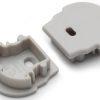 Terminaison UNI12 D gris + passage de câble (set de 2)