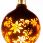 Ampoule DECO LED G125 Doré/Fleur 0,5W E27