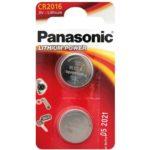 Lot de 2 Piles bouton Lithium CR-2016 Panasonic