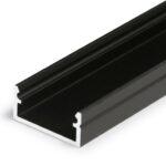 Profilé LED BEGTON12 /1m alu laqué noir (J/S)