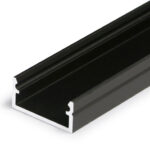 Profilé LED BEGTON12 /2m alu laqué noir (J/S)
