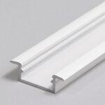 Profilé LED BEGTIN12 /1m alu laqué blanc (J/S)