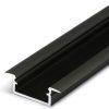 Profilé LED BEGTIN12 /2m alu anodisé noir (J/S)
