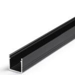Profilé LED SMART-IN10 /2m alu anodisé noir (A/Z)