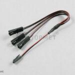 Câble 2×0,35 L-230mm avec 1xMINI plug/3xMINI socket