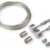 Câble acier SELV + support de fixation argenté (set de 2)