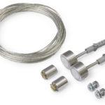 Câble acier SELV + support de fixation noir (set de 2)