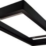 Cadre en bois 300×600 pour panel – Laqué noir
