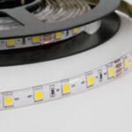 Strip LED IP65 Etanche SMD3528 9,6W/m 24V 672Lm/m 24V 4.5m 6000K lumière du jour