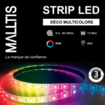 Strip LED IP65 7.2 W/m Déco Multicolore 24V Long. 5m