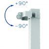 Etrier pour tube carré pour Solaar 8 +90° / -90°