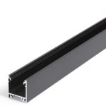 Profilé LED LINEA20 /1m alu anodisé noir (E-E7-F/TY)
