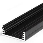 Profilé LED WIDE24 /1m alu anodisé noir (G/W)