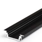 Profilé LED GROOVE10 /1m alu anodisé noir (BC/UX)