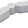 Eclairage sur rail 3 ph. Connecteur d'angle ajustable Blanc