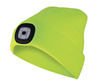 Bonnet LED rechargeable jaune fluo
