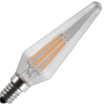Ampoule LED Fil. Pyramide (Hexagon) Claire 2200K 260L 4W E14 Dim