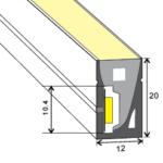 Neon flex LED 24V 9,6 W/m 3000K x10m