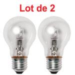 Lot de 2 Ampoules Halogène Standard 53W E27 824Lm