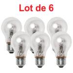 Lot de 6 Ampoules Halogène Standard 70W E27 1170Lm