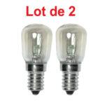 Lot de 2 Ampoules Incandescentes Spéciale FRIGO 15W E14