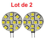 Lot de 2 Ampoules LED Capsule 1,5W G4 4000K blanc neutre