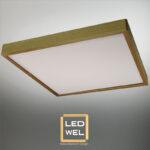 Cadre Design bois 60x60cm en Frêne massif avec Panel LED 40W 4000Lm 4000K blanc neutre