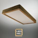 Cadre Design bois 30x60cm en Frêne massif avec Panel LED 30W 2500Lm 4000K blanc neutre