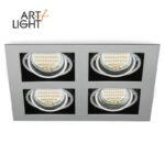 Downlight ZSARA 4 Spots LED orientables GU10 IP20